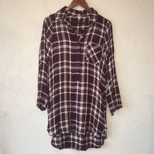Urban Outfitters En Creme Purple Flannel Dress